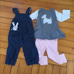 Other - 4 Piece Carter's and Gymboree Spring Bundle 18M